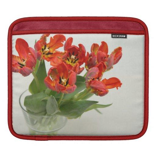 Tulips red iPad sleeves
