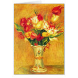 Tulips Renoir Vintage Flowers Floral Impressionism Greeting Card