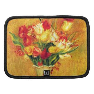 Tulips Renoir Vintage Flowers Floral Impressionism Organizer