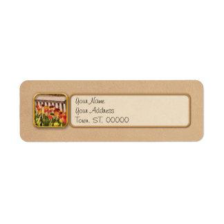 Tulips - Retirement can be sweet Custom Return Address Labels