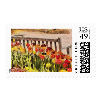 Tulips - Retirement can be sweet Postage Stamp