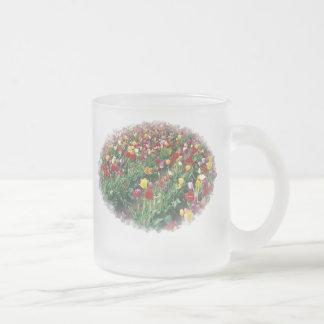 Tulips Ripple Edge Frosted Mug