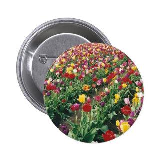 Tulips Round Button