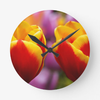 Tulips Round Wallclock