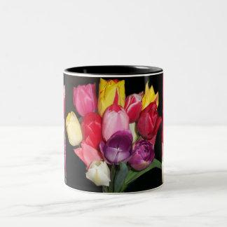 Tulips Says it All Two-Tone Coffee Mug