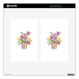 TULIPS SKIN FOR KINDLE FIRE