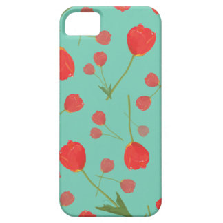 Tulips! (Teal) iPhone 5 Case