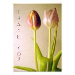 Tulips Thank You Cards Custom Invite