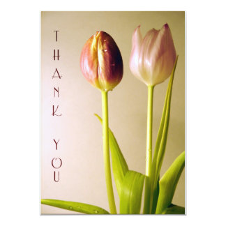 Tulips Thank You Cards Custom Invite