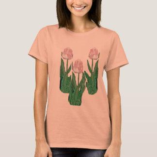 Tulips Three-Pink T-Shirt