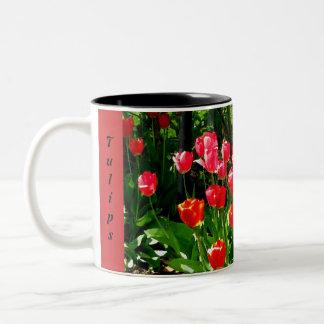 Tulips Two Toned Mug