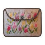 Tulips vintage embroidery MacBook pro sleeves