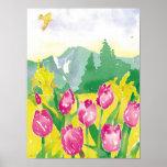 tulips watercolor print