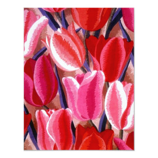 TULIPS WEDDING SAVE THE DATE NOTE EZ2 CUSTOMIZE CARD
