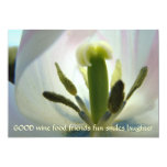 "Tulips Wine Food Friends Fun Smiles Laughter Cards 5"" X 7"" Invitation Card"