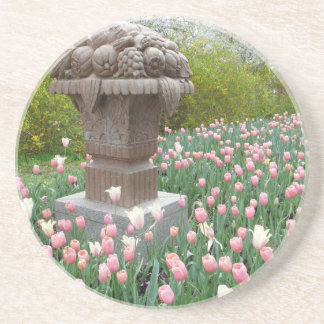 Tulips with Fruit Bowl Sculpture Drink Coasters