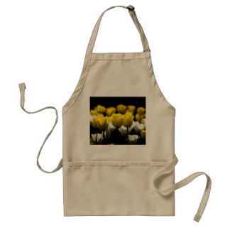 Tulips Yellow And White Adult Apron