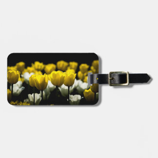 Tulips Yellow And White Luggage Tag