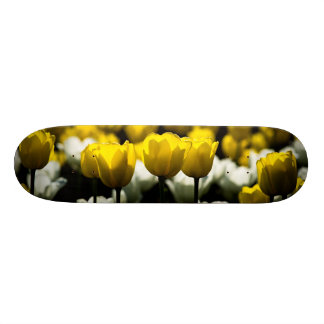 Tulips Yellow And White Skateboard Deck