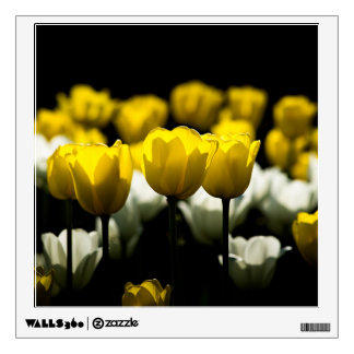 Tulips Yellow And White Wall Decal