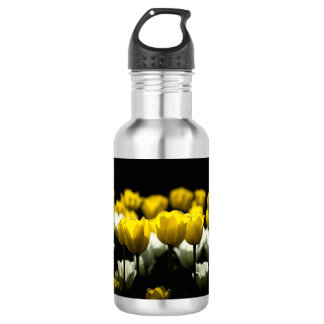 Tulips Yellow And White Water Bottle