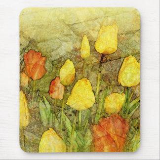 Tulips Yellow Orange Mouse Pad