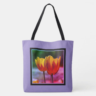 Tulips yellow red_009_q_R5 02.6.F Tote Bag