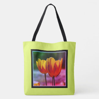 Tulips yellow red_009_q_R5 5.03.F Tote Bag