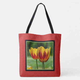 Tulips yellow red_009_q_R5 Tote Bag