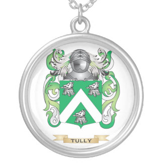 Tully Family Crest (Coat of Arms) Silver Plated Necklace
