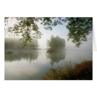 Tully Lake Autumn Morning Card