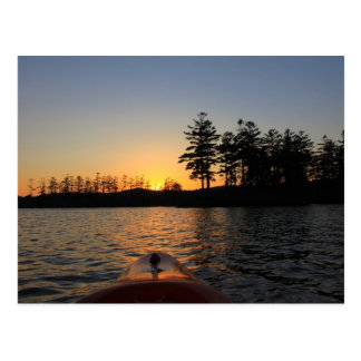 Tully Lake Sunset Kayak Royalston MA Postcard