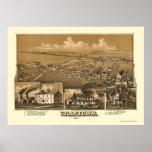 Tullytown, mapa panorámico del PA - 1887 Poster