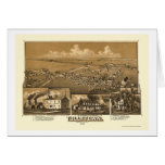 Tullytown, mapa panorámico del PA - 1887 Felicitaciones