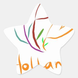 Tulp Holland Star Sticker