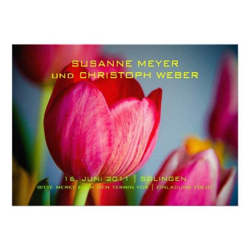 Tulpen de memoria • Ahorre la fecha Karte Anuncio
