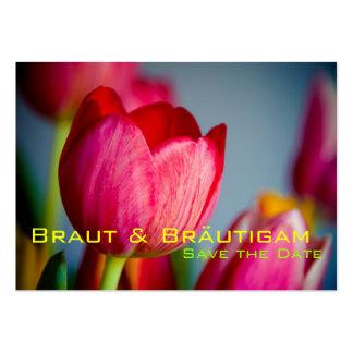 Tulpen de memoria • Ahorre la fecha mini Karten Tarjetas De Negocios