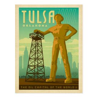 Tulsa, AUTORIZACIÓN - capital del aceite Tarjeta Postal