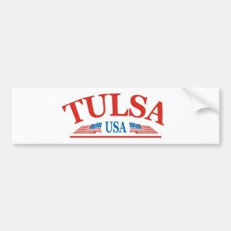 Tulsa Pegatina De Parachoque