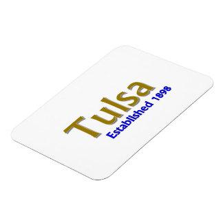 "Tulsa Established 3""x4"" Flexible Photo Magnet"