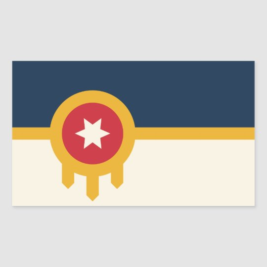 Tulsa flag stickers