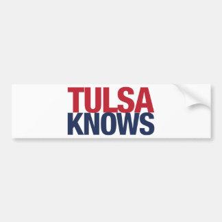 Tulsa Knows Bumper Sticker