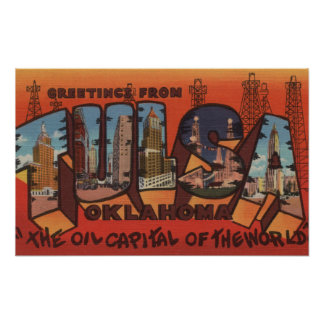 Tulsa, letra ScenesTulsa, AUTORIZACIÓN de Oklahoma Posters