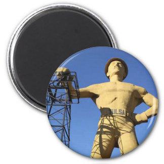 Tulsa, OK Golden Driller Magnet