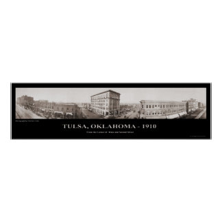Tulsa, OK -  Panoramic Photograph - 1910 Poster