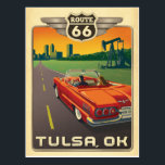 "Tulsa, OK - Route 66 Postcard<br><div class=""desc"">Anderson Design Group is an award-winning illustration and design firm in Nashville,  Tennessee. Founder Joel Anderson directs a team of talented artists to create original poster art that looks like classic vintage advertising prints from the 1920s to the 1960s.</div>"