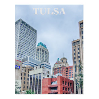 tulsa oklahoma downtown postcard