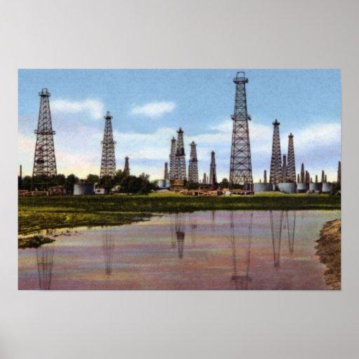 Tulsa Oklahoma Oil Fields Poster