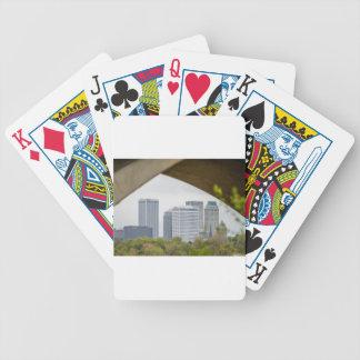 tulsa oklahoma skyline bicycle playing cards