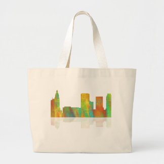 Tulsa Oklahoma Skyline Large Tote Bag